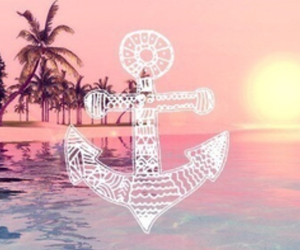 summer, beach, and anchor image