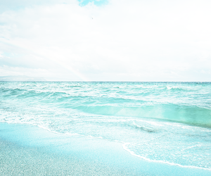 beach, blue, and water image