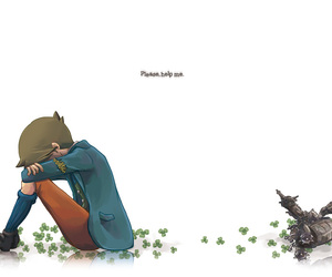 clive, professor layton, and video game fan art image