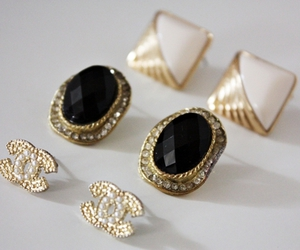 earrings, chanel, and fashion image