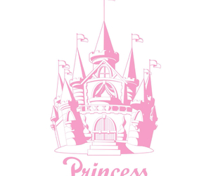 pink, princess, and castle image