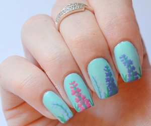 floral, flowers, and nail polish image