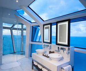 bathroom, house, and sea image
