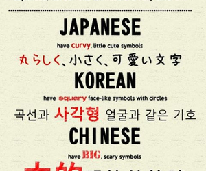 japanese, chinese, and korean image