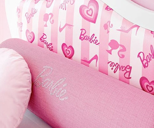 barbie, pink, and bed image