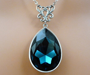 bridal jewelry, bridal necklace, and crystal jewelry image