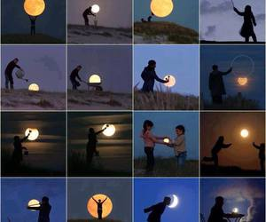 moon, night, and funny image