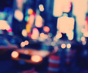 blurred, taxi, and city image