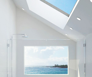 bathroom, sea, and white image