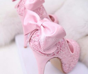 bow, heels, and lace image