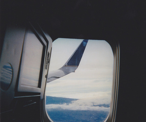 sky, travel, and plane image
