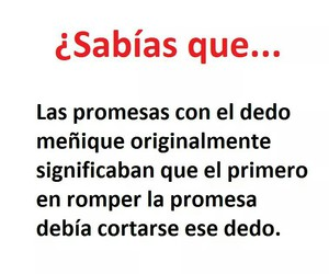 promesas, sabias que, and meñique image