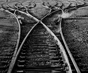 black and white, black, and life image