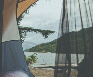 camping, nature, and indie image