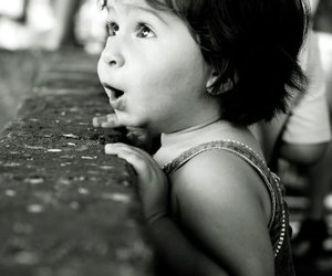 cute, child, and black and white image
