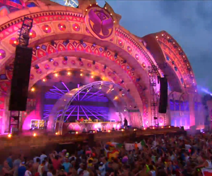 festival, stage, and Tomorrowland image