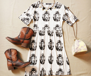 boots, dress, and lions image