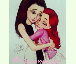 ariana grande, cat valentine, and cat image