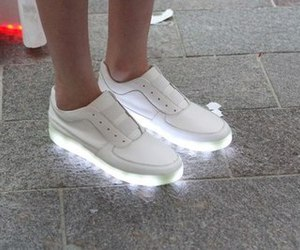 shoes, light, and white image