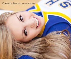 blue, cheerleader, and eyes image