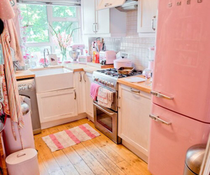 kitchen, pink, and girly image