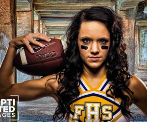 brown hair, cheerleader, and football image