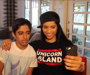 superwoman, lily singh, and ravi from jessie image