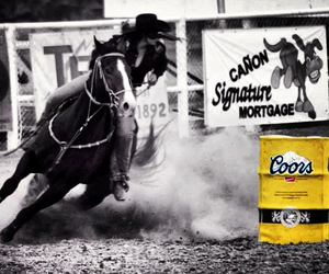 cavalo, horse, and barrel racing image