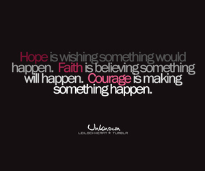 quote, courage, and faith image