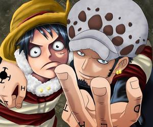 anime, Law, and onepiece image