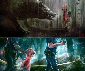 wolf and police image