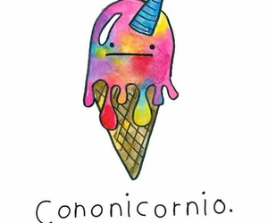 unicorn, colors, and ice cream image