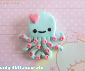 kawaii, octopus, and clay image