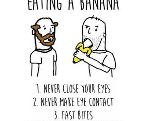 banana, funny, and rules image