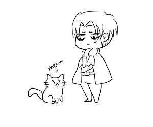 levi and cat image