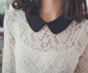 fashion, lace, and collar image