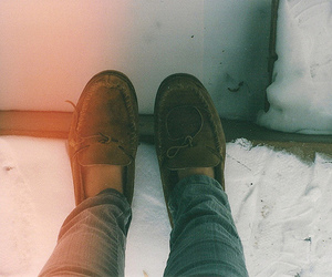 shoes, snow, and indie image