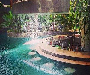 drinks, swimming pool, and fun image