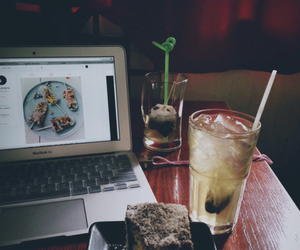 hipster, tea, and macbook image
