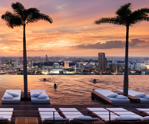 city, pool, and singapore image