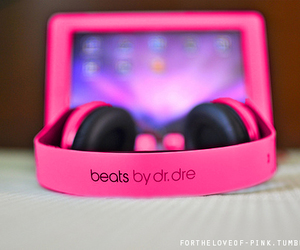 beats, pink, and music image