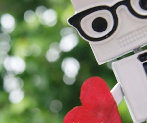 adorable, nerd glasses, and robot image