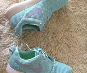 nike, roshes, and tiffany blue image