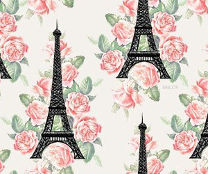 paris, flowers, and wallpaper image