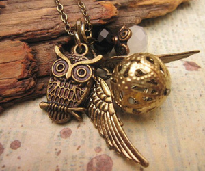 owl, harry potter, and necklace image