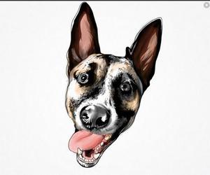 adorable, dog, and art image