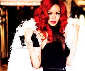 rihanna, red, and red hair image