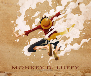 anime and luffy image