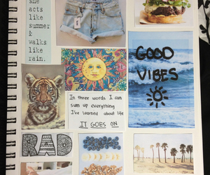 notebook, sun, and good vibes image