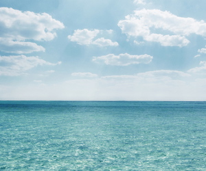 blue, sea, and sky image